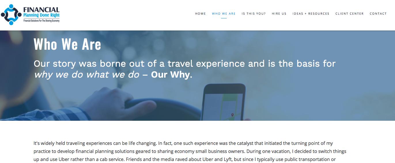 financial advisor website