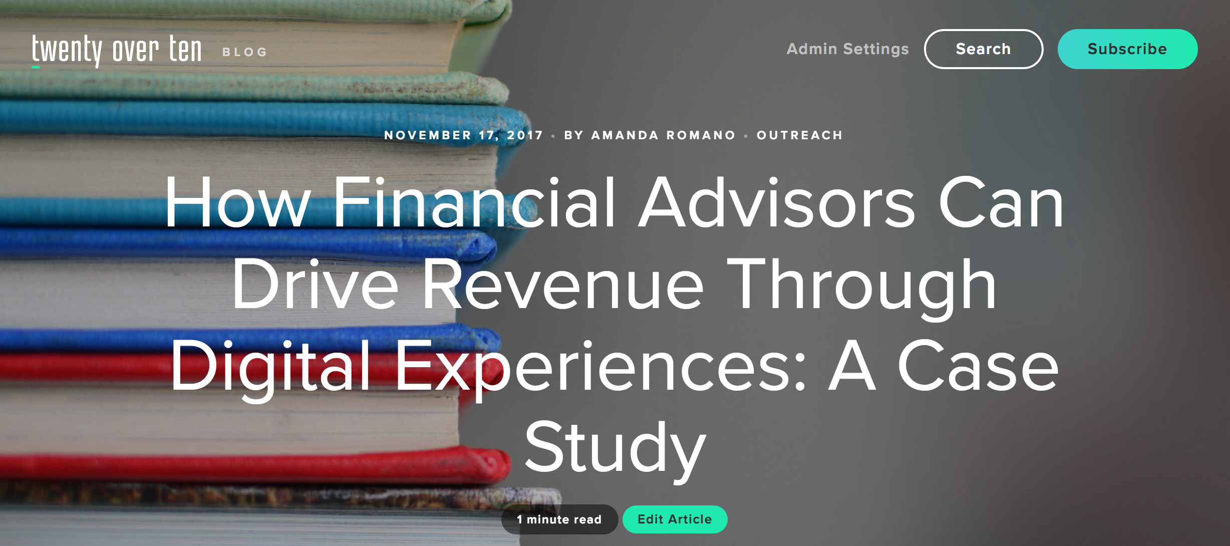 how financial advisors can drive revenue: a case study