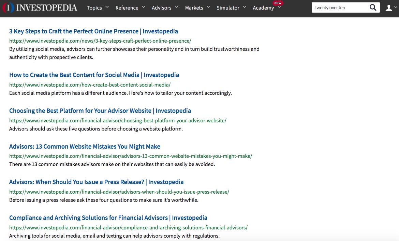 investopedia twenty over ten articles