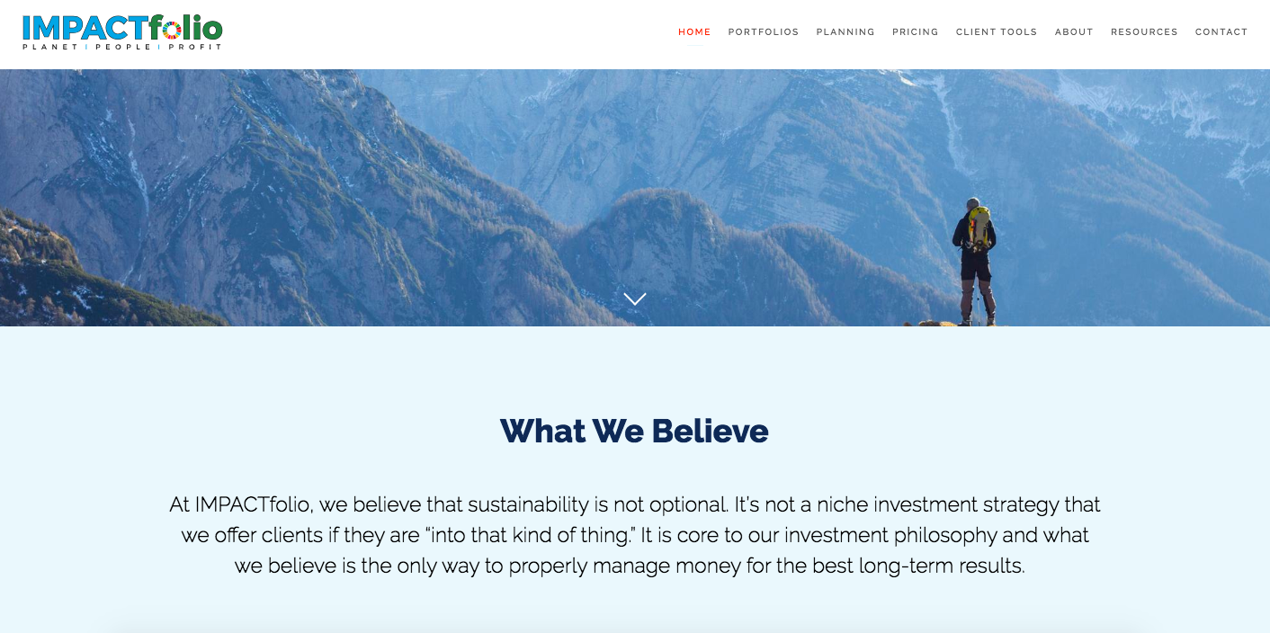 IMPACTfolio, best financial advisor website