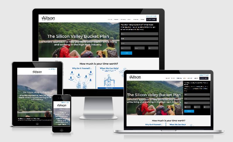 best financial advisor websites built by twenty over ten, alison wealth management