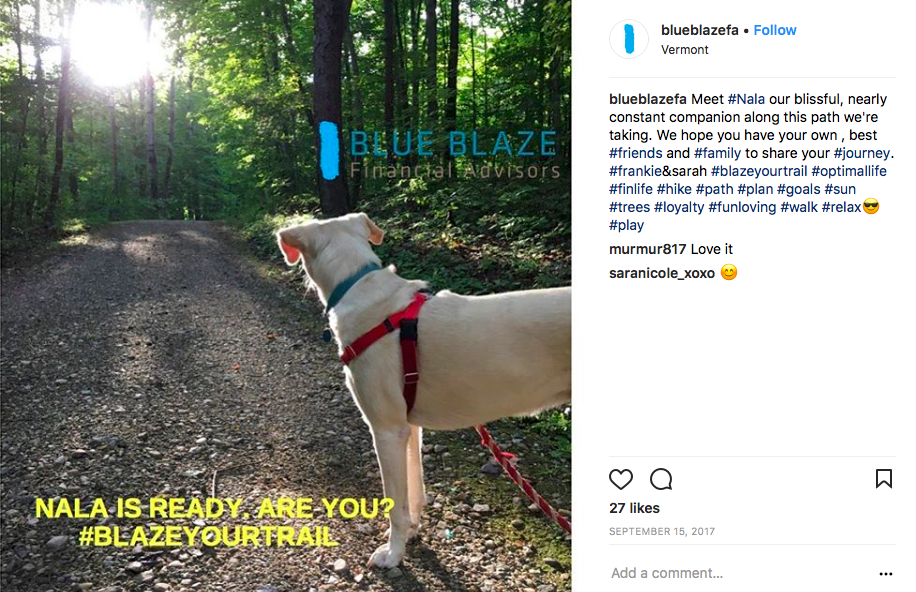 blue blaze financial advisors, instagram for financial advisors