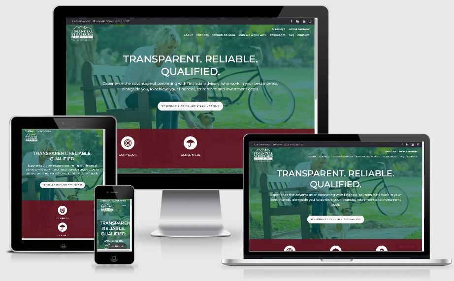 mobile responsive advisor website