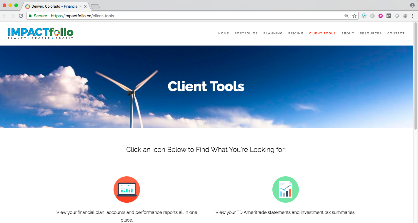 file sharing and client portals on advisor website