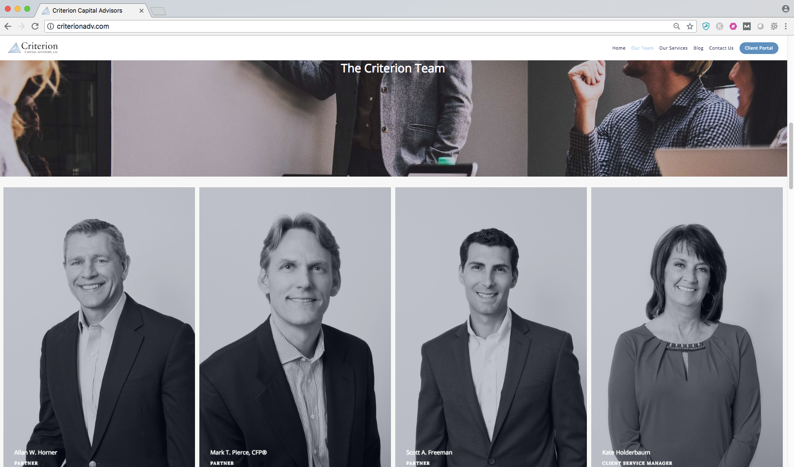 about us page on financial advisor website