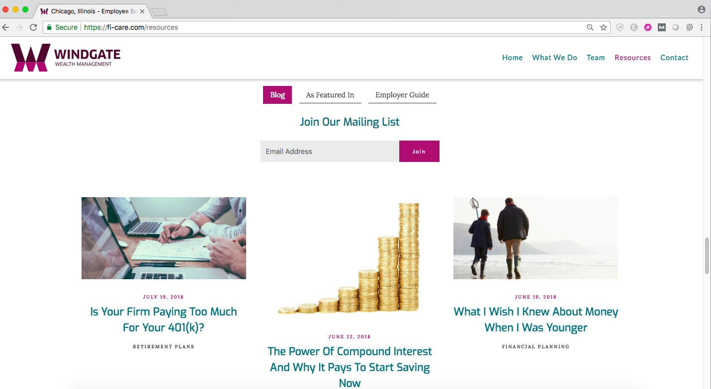 windgate wealth management financial advisor blog