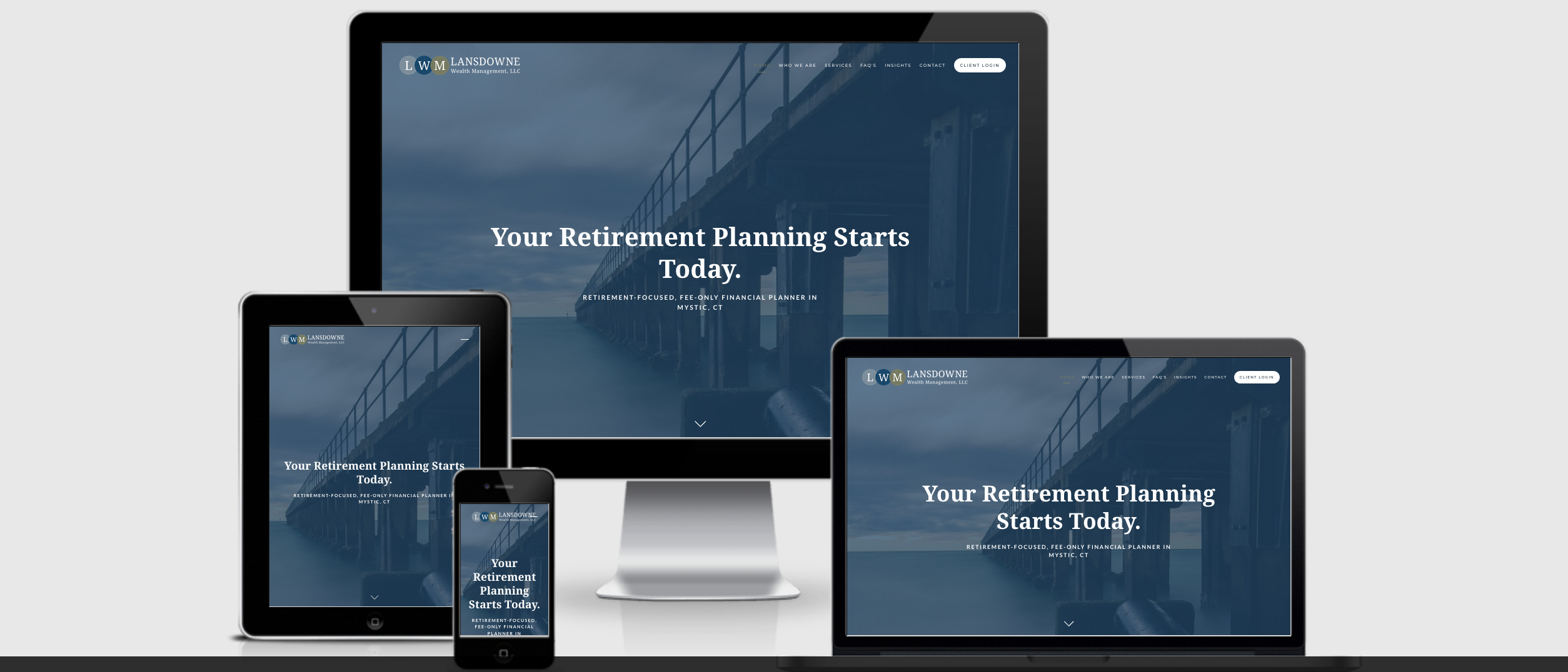 Lansdowne Wealth management, financial advisor website