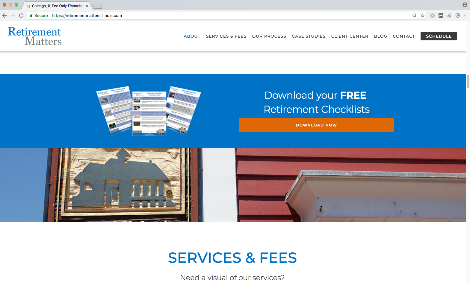 best financial advisor website examples