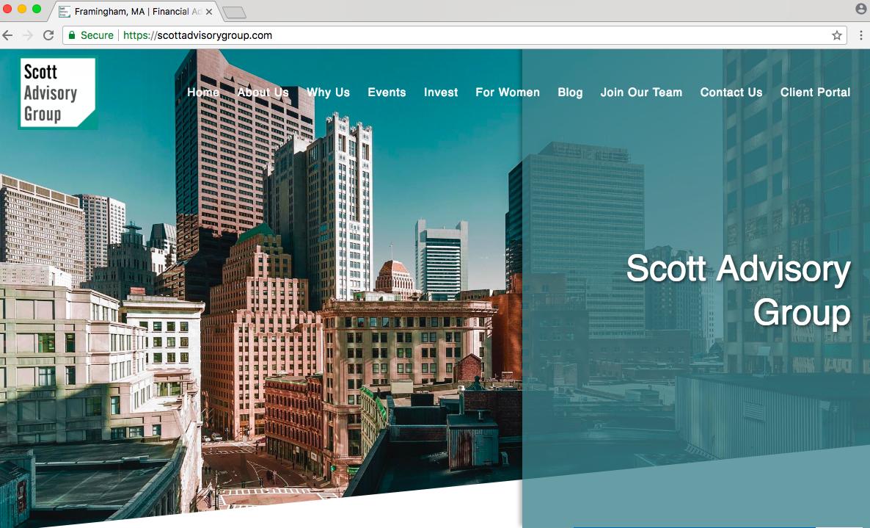 financial advisor website built by twenty over ten