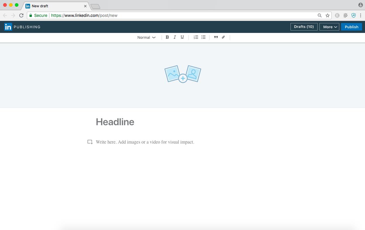 linkedin publishing tool