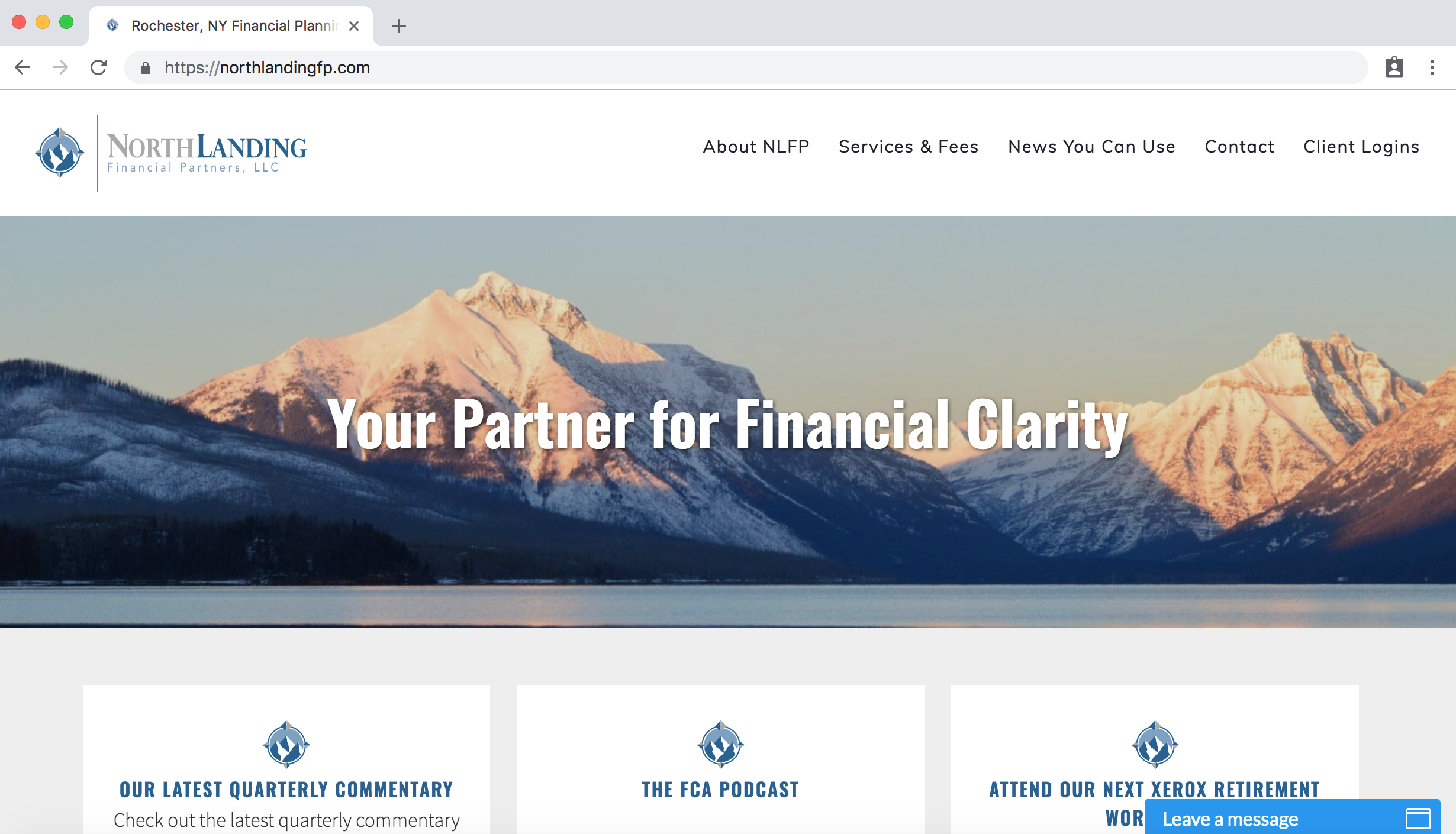 Northlanding Financial homepage