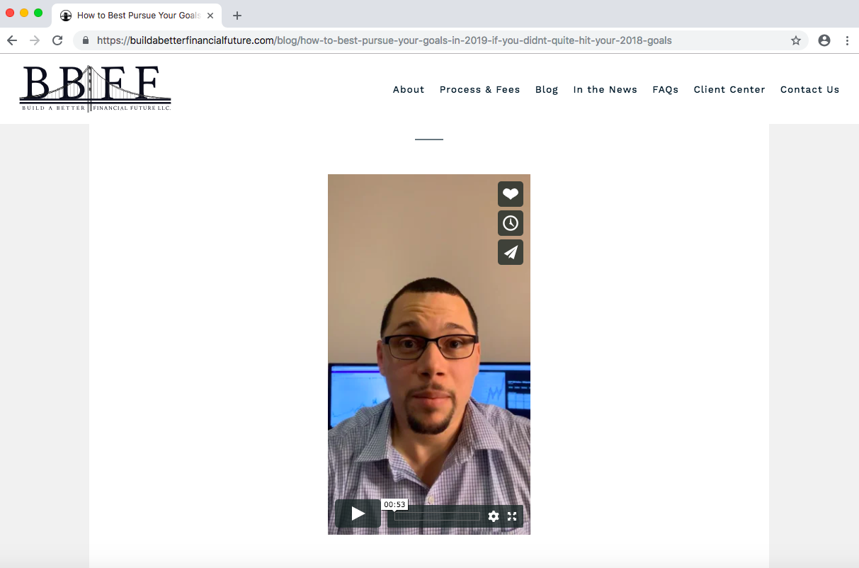 video in financial advisor blog posts, bbff, luis rosa