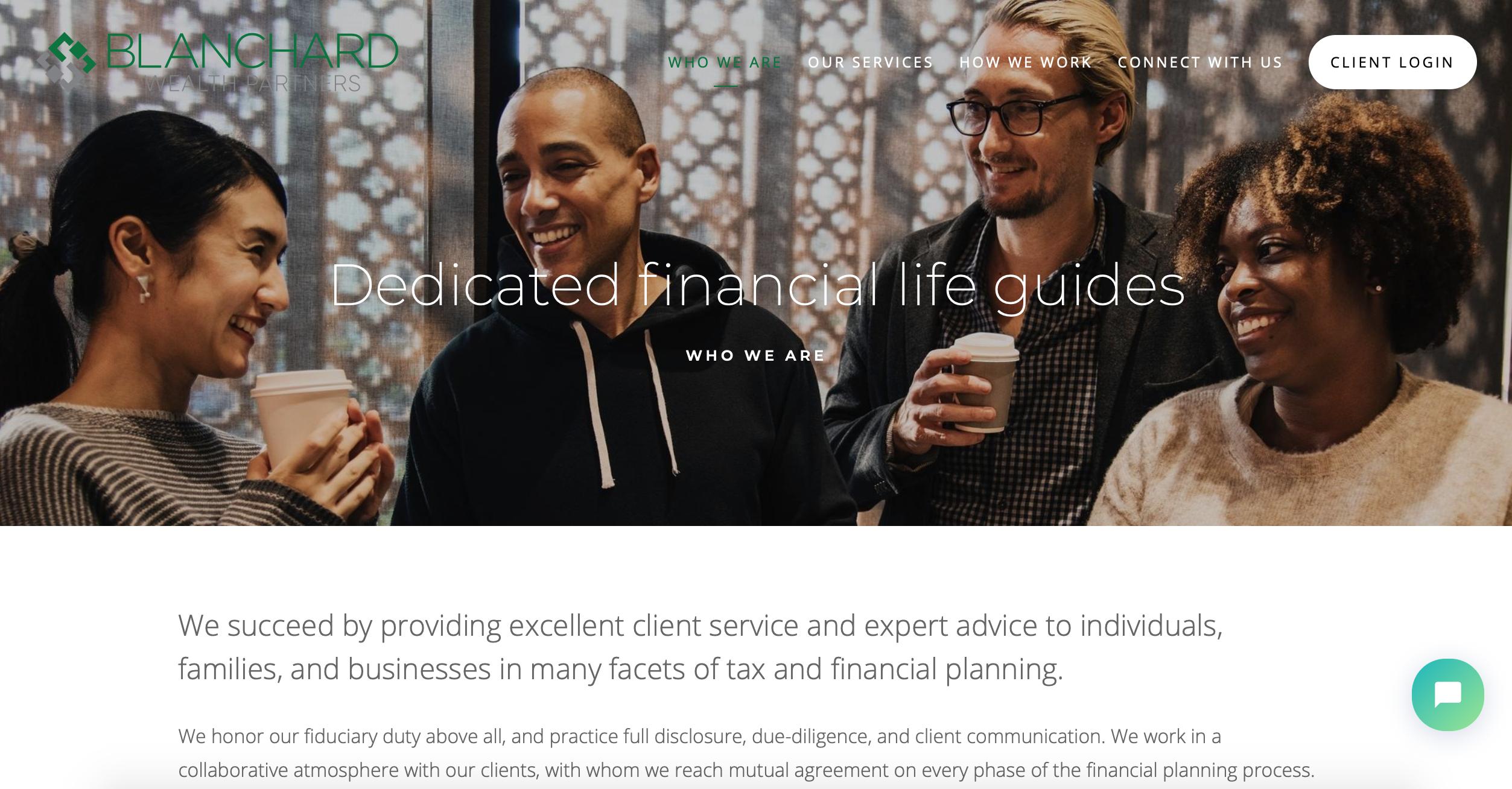 best advisor websites, blanchard wealth partners