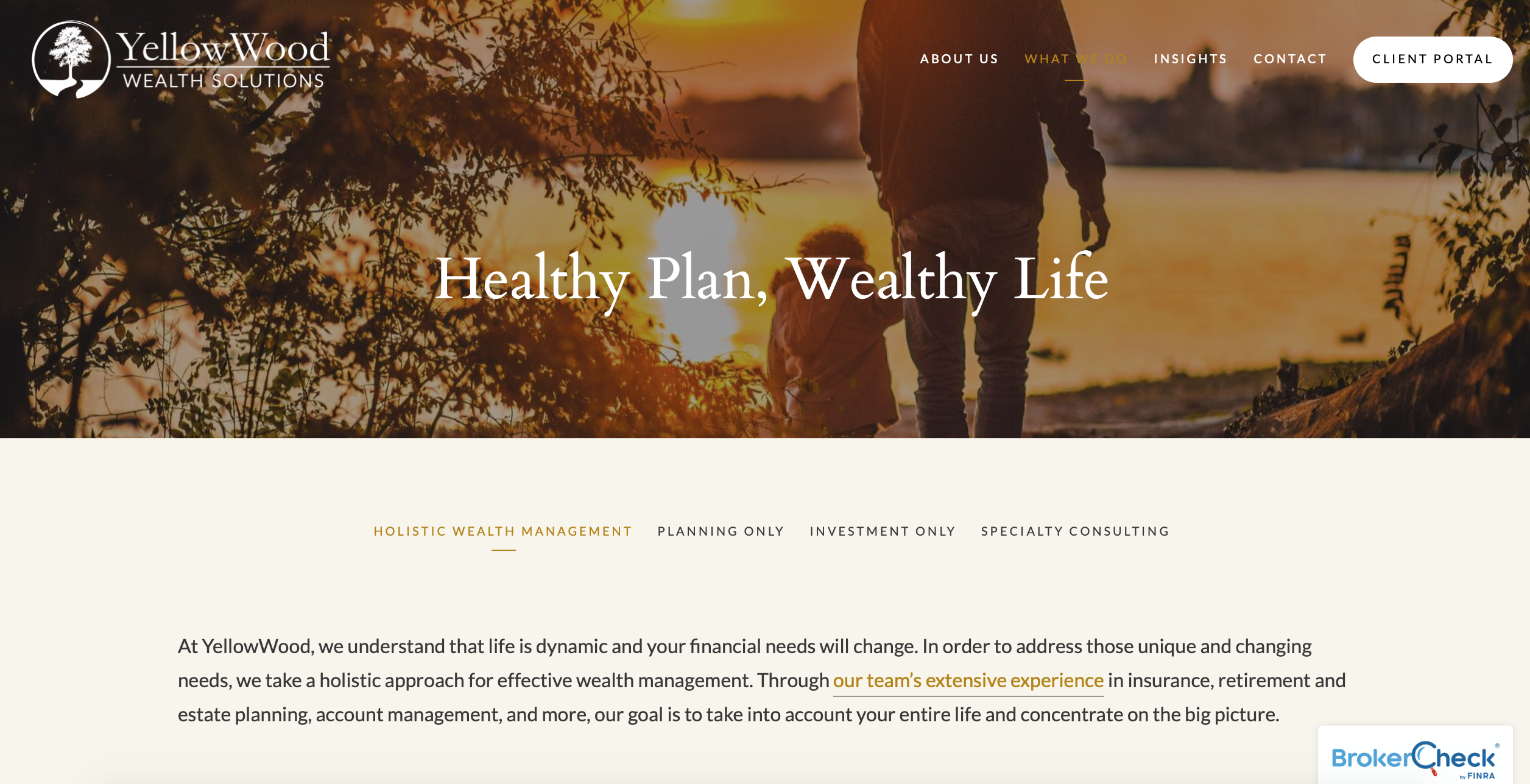 advisor website, yellowwood wealth