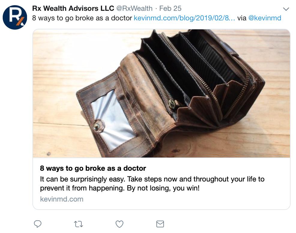 rx wealth advisors, financial advisor social media