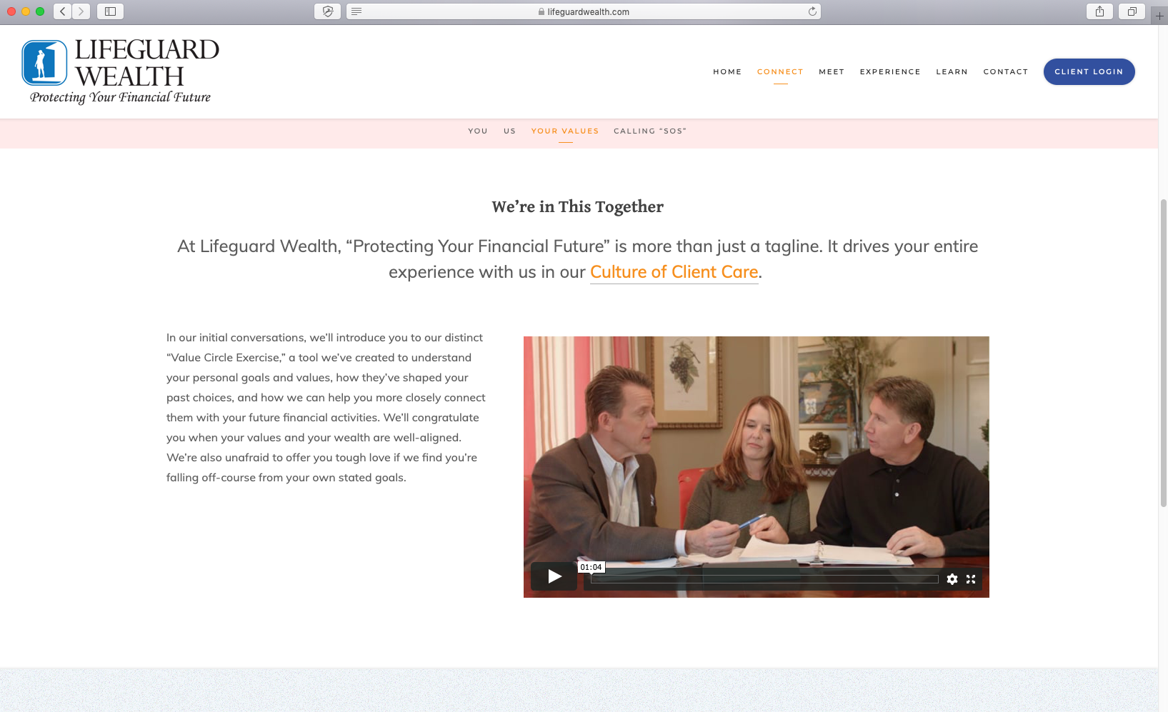 using video on your advisor website, lifeguard wealth