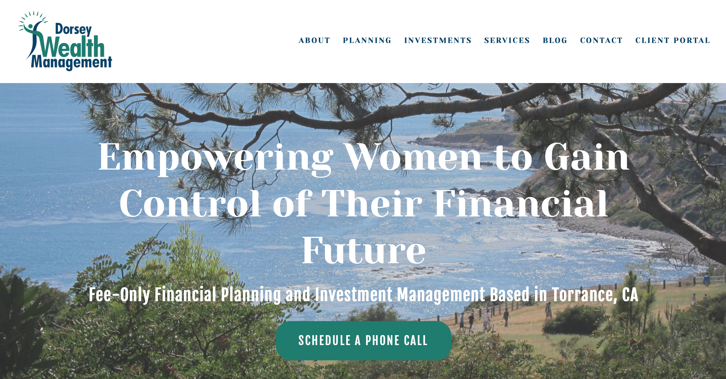 Dorsey Wealth Mgmt CTA on homepage