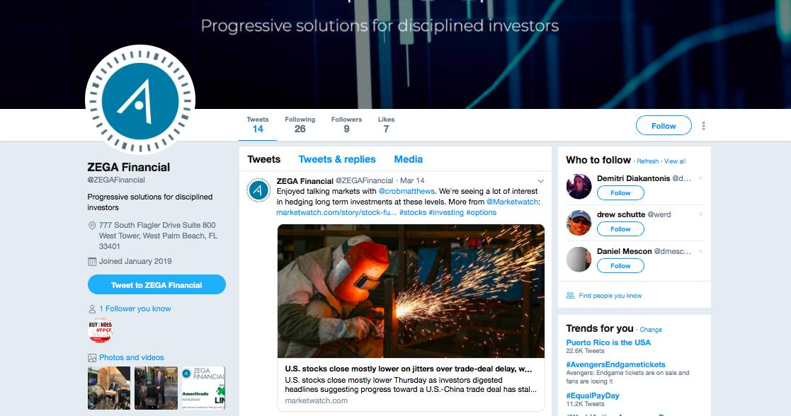 Zega Financial Twitter
