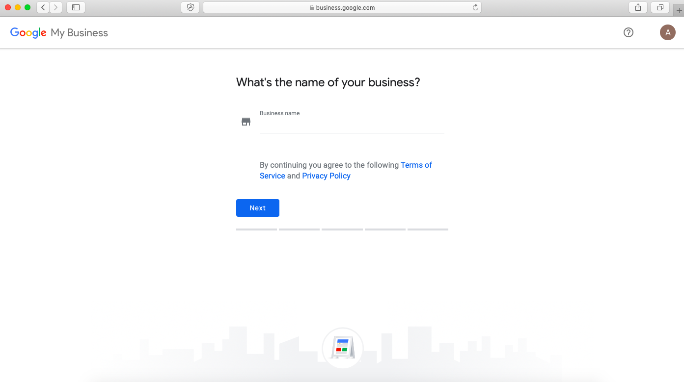 google my business listing setup