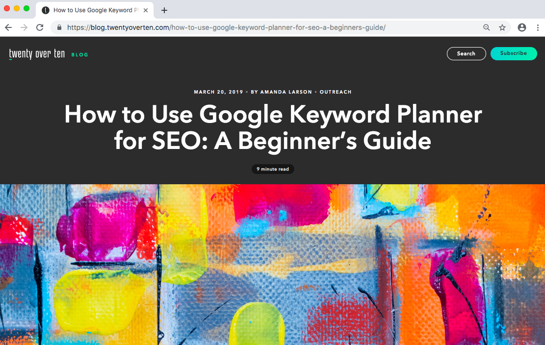How to use Google Keyword Planner blog