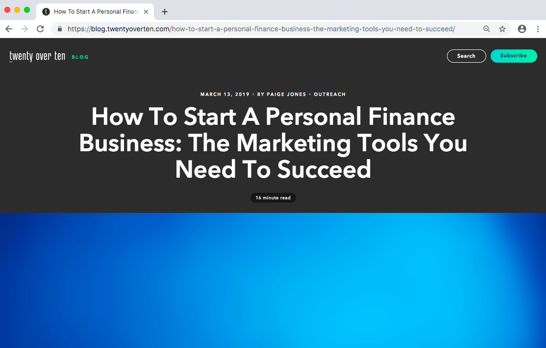 How to Start a Personal Finance Business