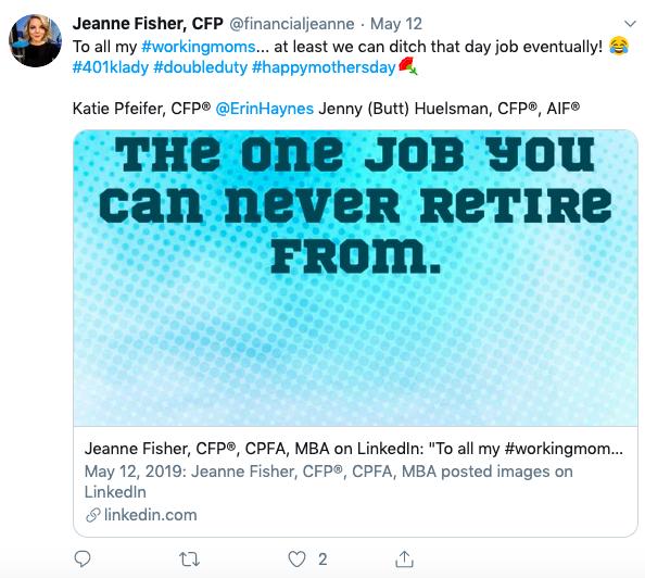 financial advisor using emojis on social media, jeanne fisher cfp