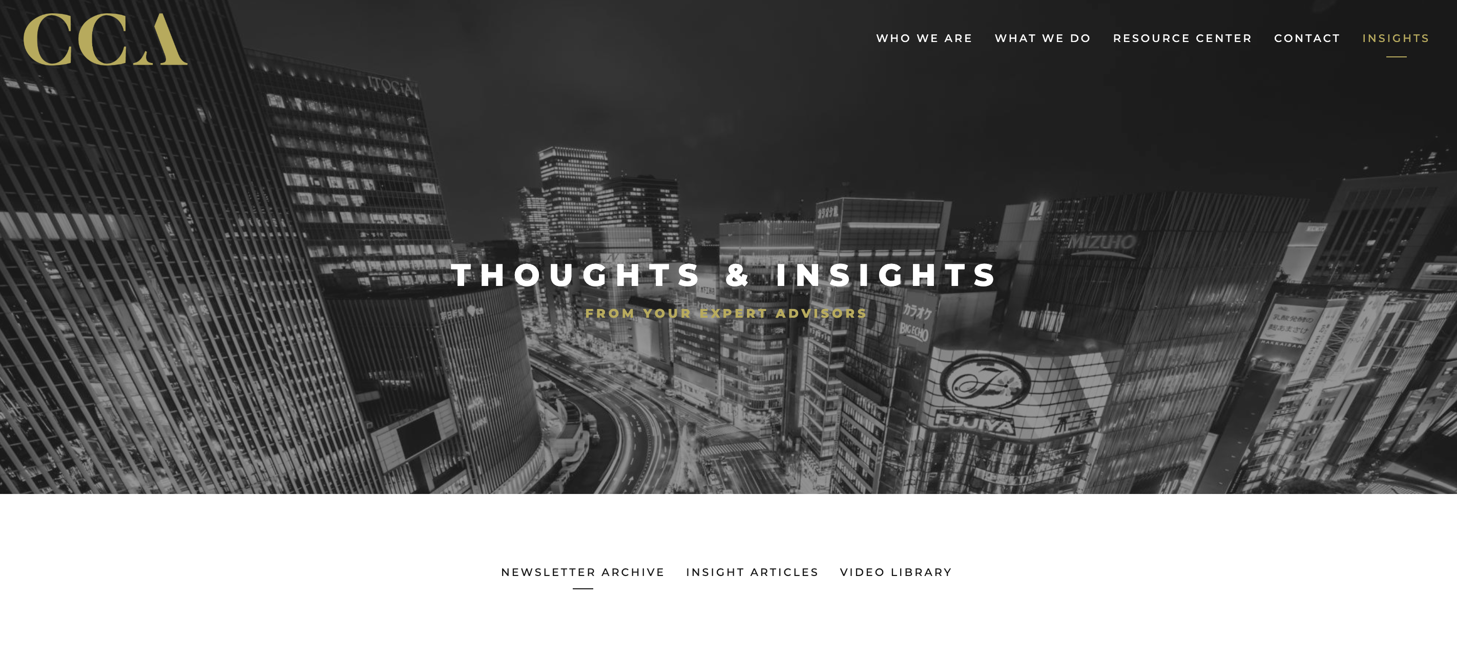 insights blog example from financial advisor, centric capital advisors