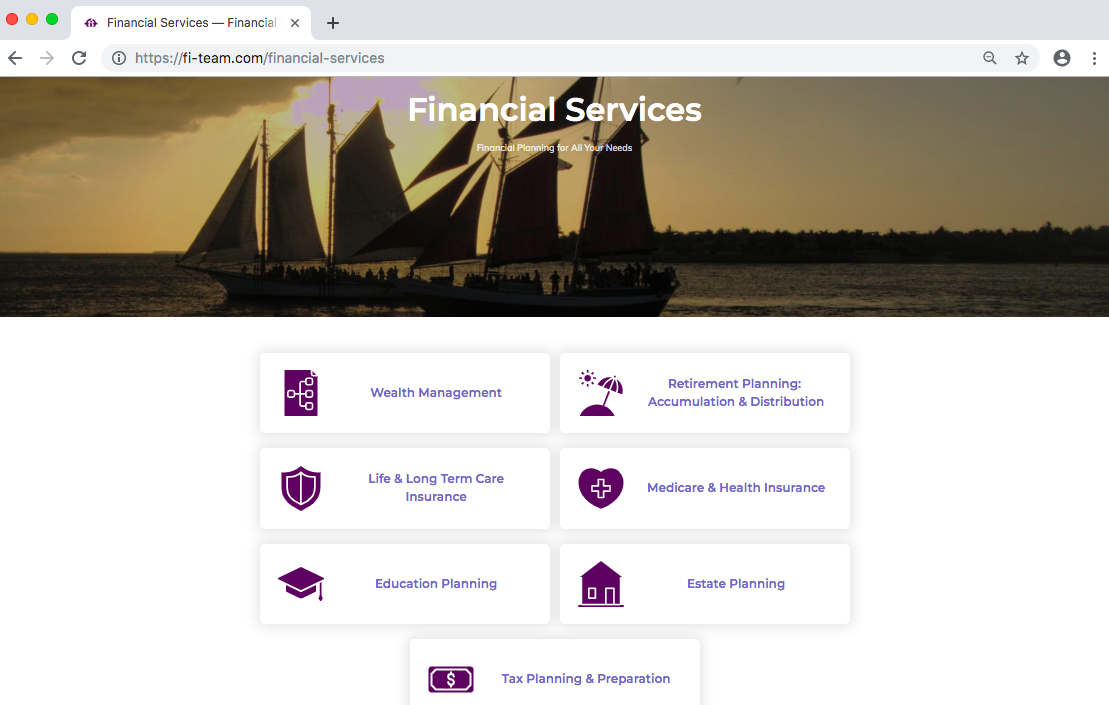 Financial Investment Team services