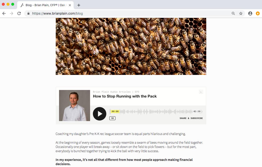 Brian Plain blog