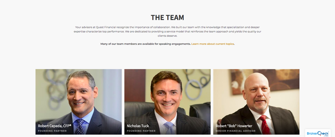 Quest Financial Services meet the team