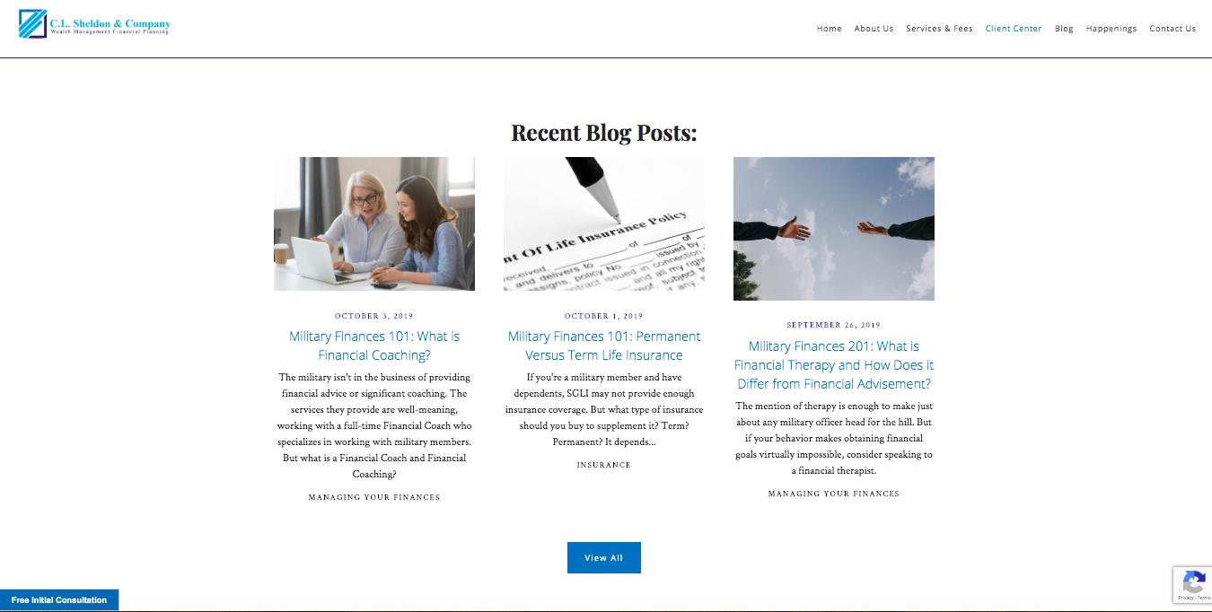 C.L. Sheldon & Company blog posts