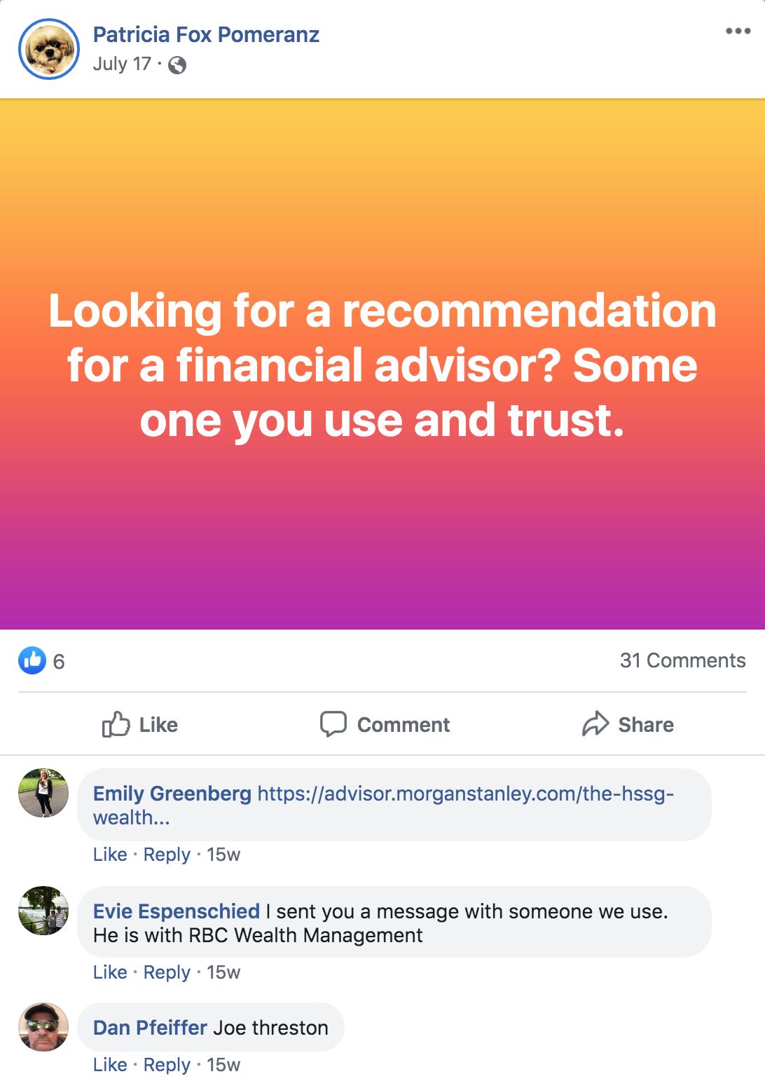 Facebook Referrals