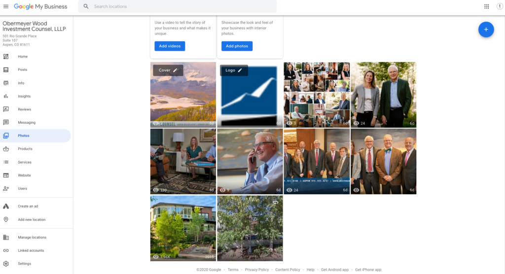 adding photos to google my business listing seo best practice