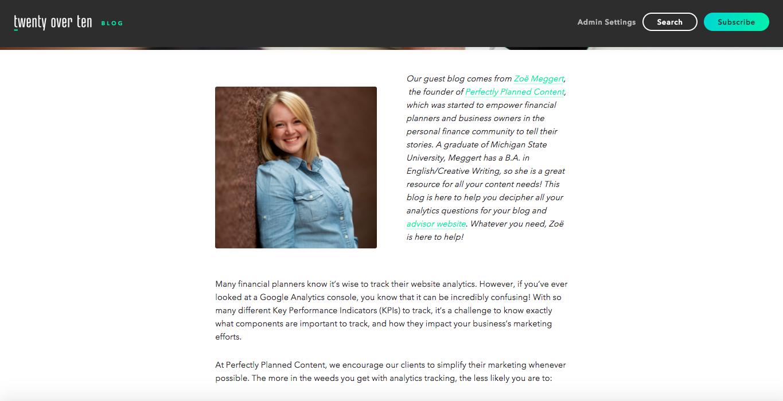 Zoe Meggert guest blog post