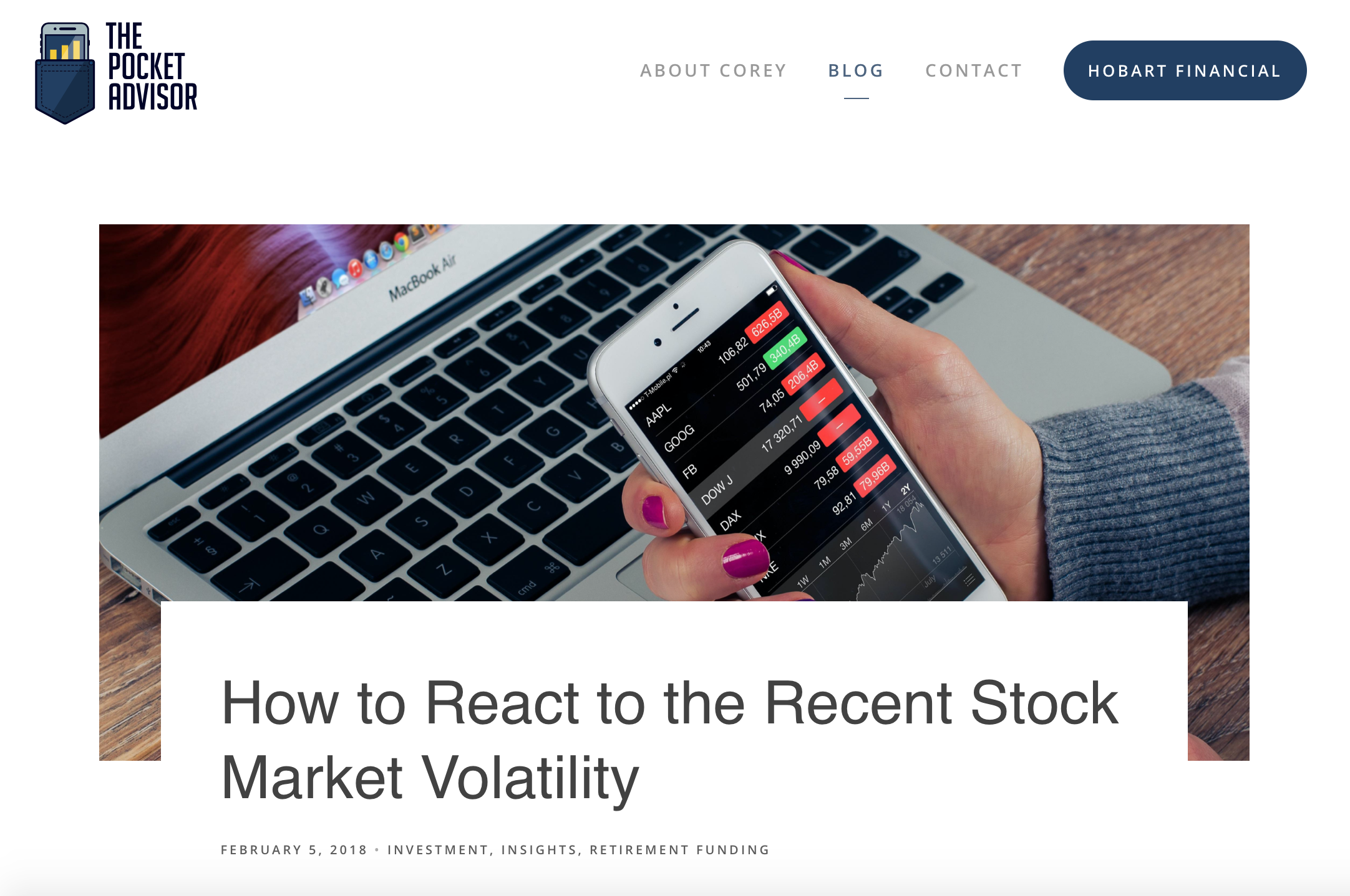 How to react to the recent stock market volatility
