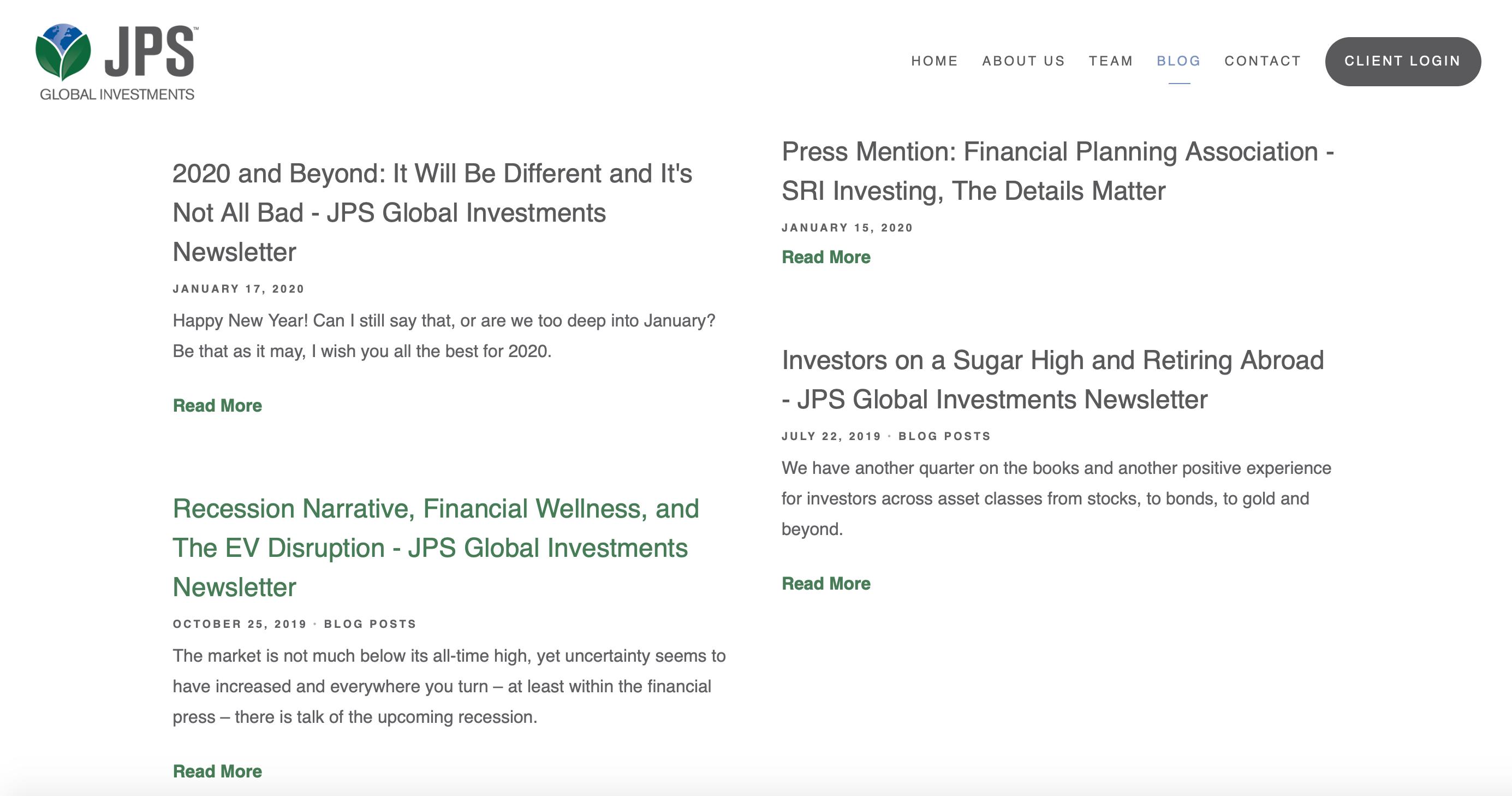 JPS Global Investments Blog