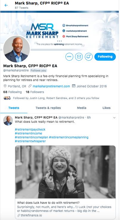 Mark Sharp Retirement Twitter