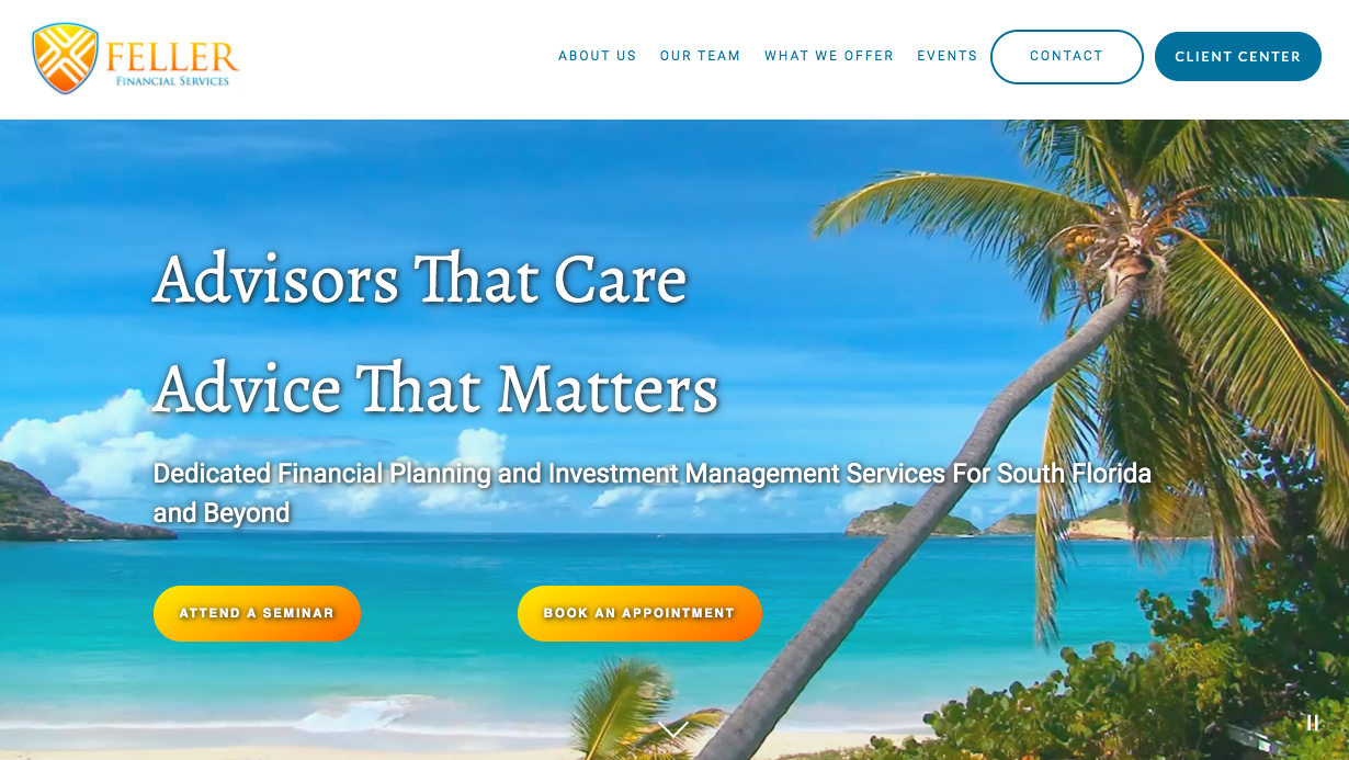Feller Financial Services homepage