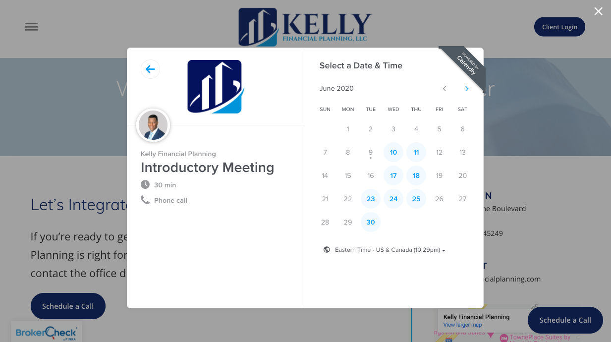 Kelly financial Planning Calendly link
