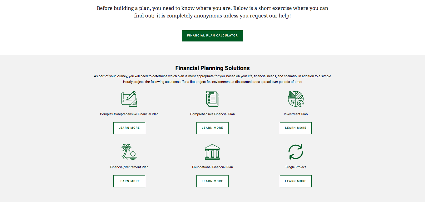 Financial Freedom Planners offerings