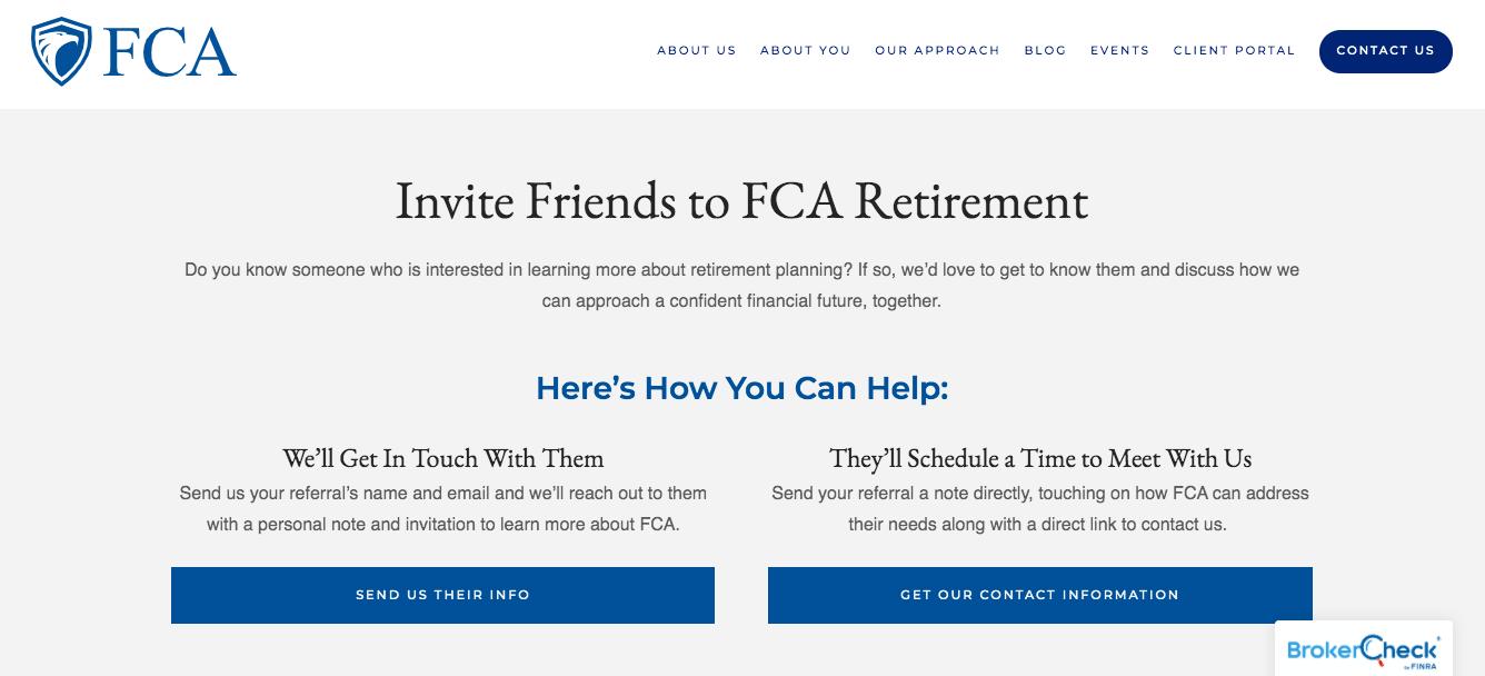 FCA Refer a friend