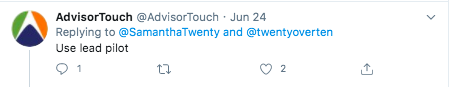Advisor touch twitter