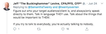 Jeff Levine Twitter