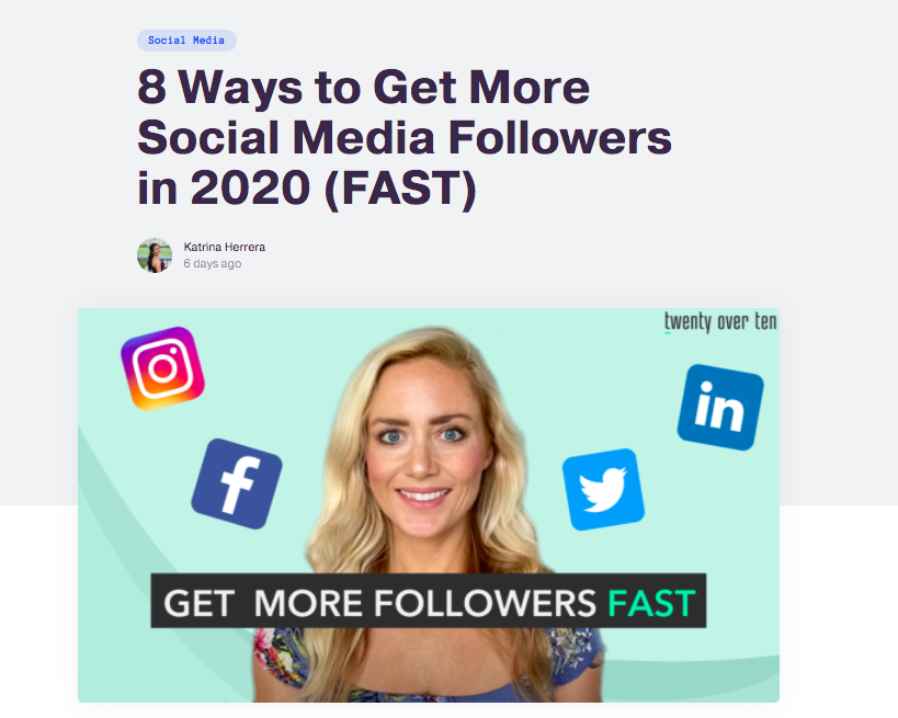 Get social media follower fast
