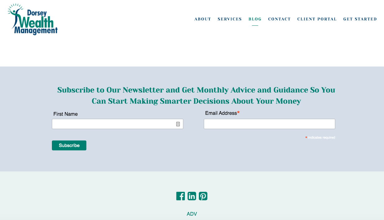 Dorsey Wealth Management gated content