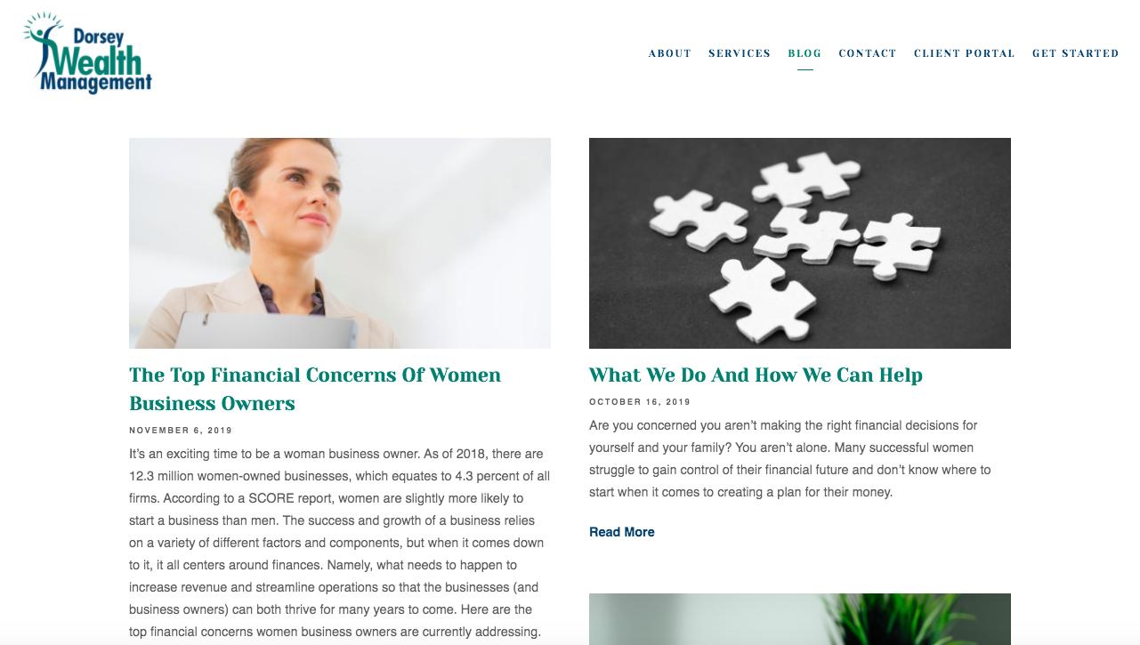 Dorsey Wealth Management blog