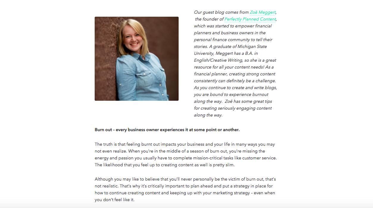 Zoe Meggert blog post