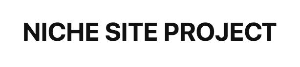 Niche Site Project