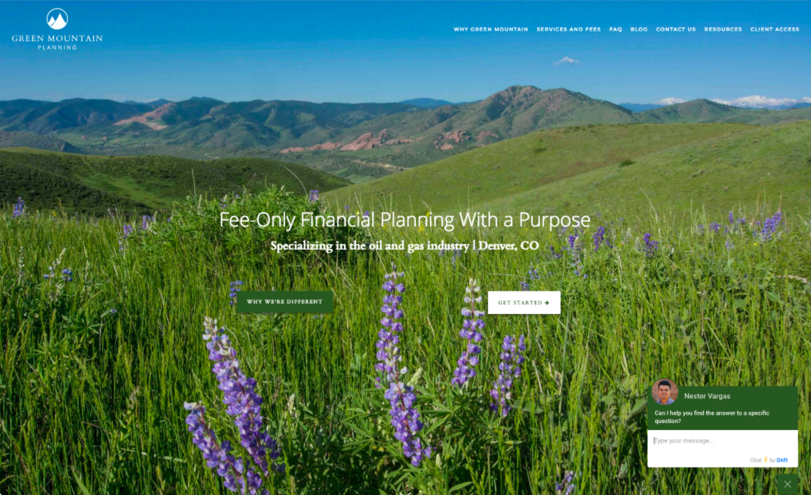 Green Mountain Planning live chat