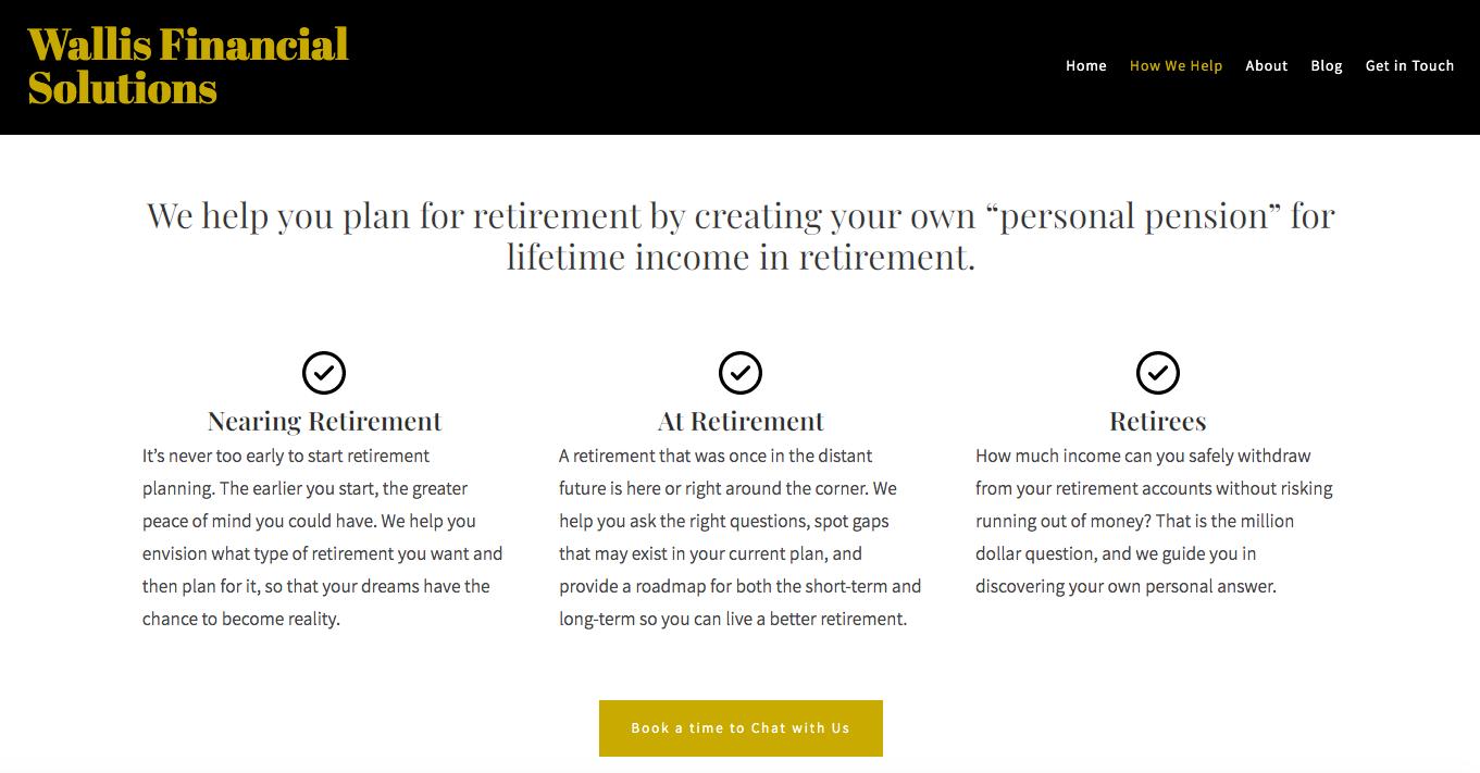 Wallis Financial Solutions how we help